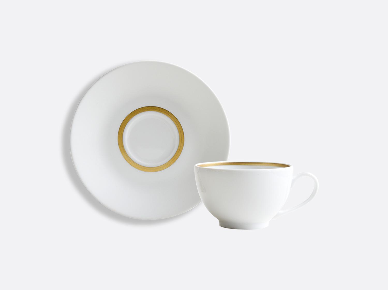 China Teacup and saucer 13 cl of the collection Cronos or | Bernardaud