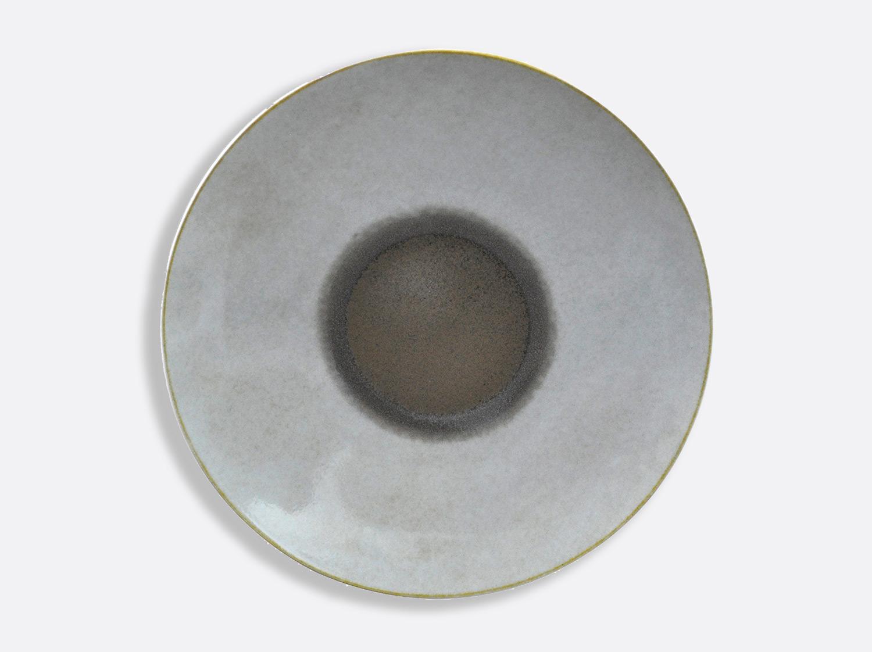 Assiette coupe Taupe 31,5 cm en porcelaine de la collection IRIS TAUPE Bernardaud