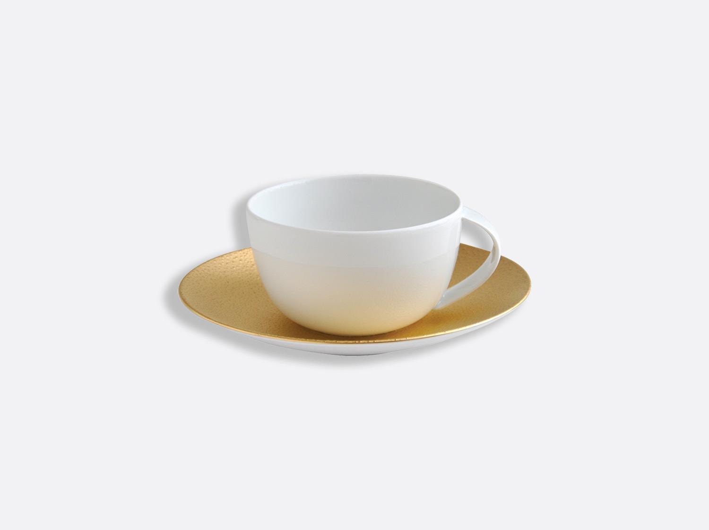 Tasse et soucoupe thé 20 cl en porcelaine de la collection Gouttes d or Bernardaud