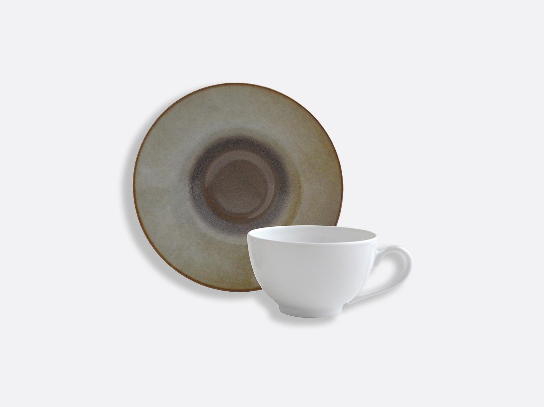 Tasse et soucoupe thé 13 cl en porcelaine de la collection IRIS TAUPE Bernardaud