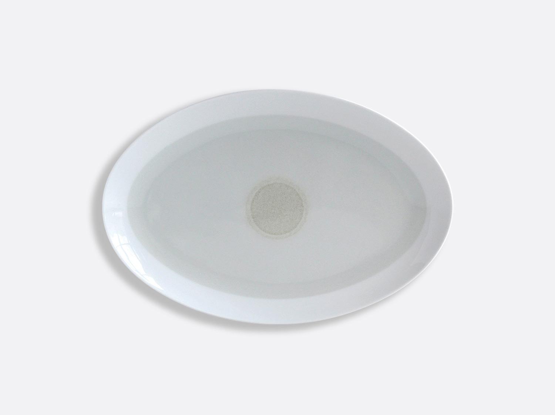 Plat ovale Ivoire 33 cm en porcelaine de la collection IRIS IVOIRE Bernardaud