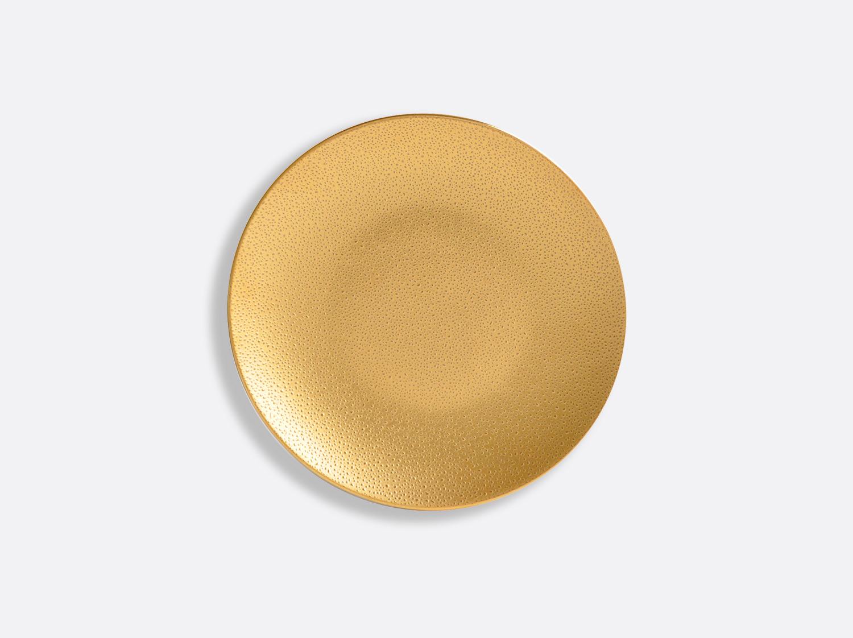 Assiette coupe 14 cm en porcelaine de la collection Gouttes d or Bernardaud