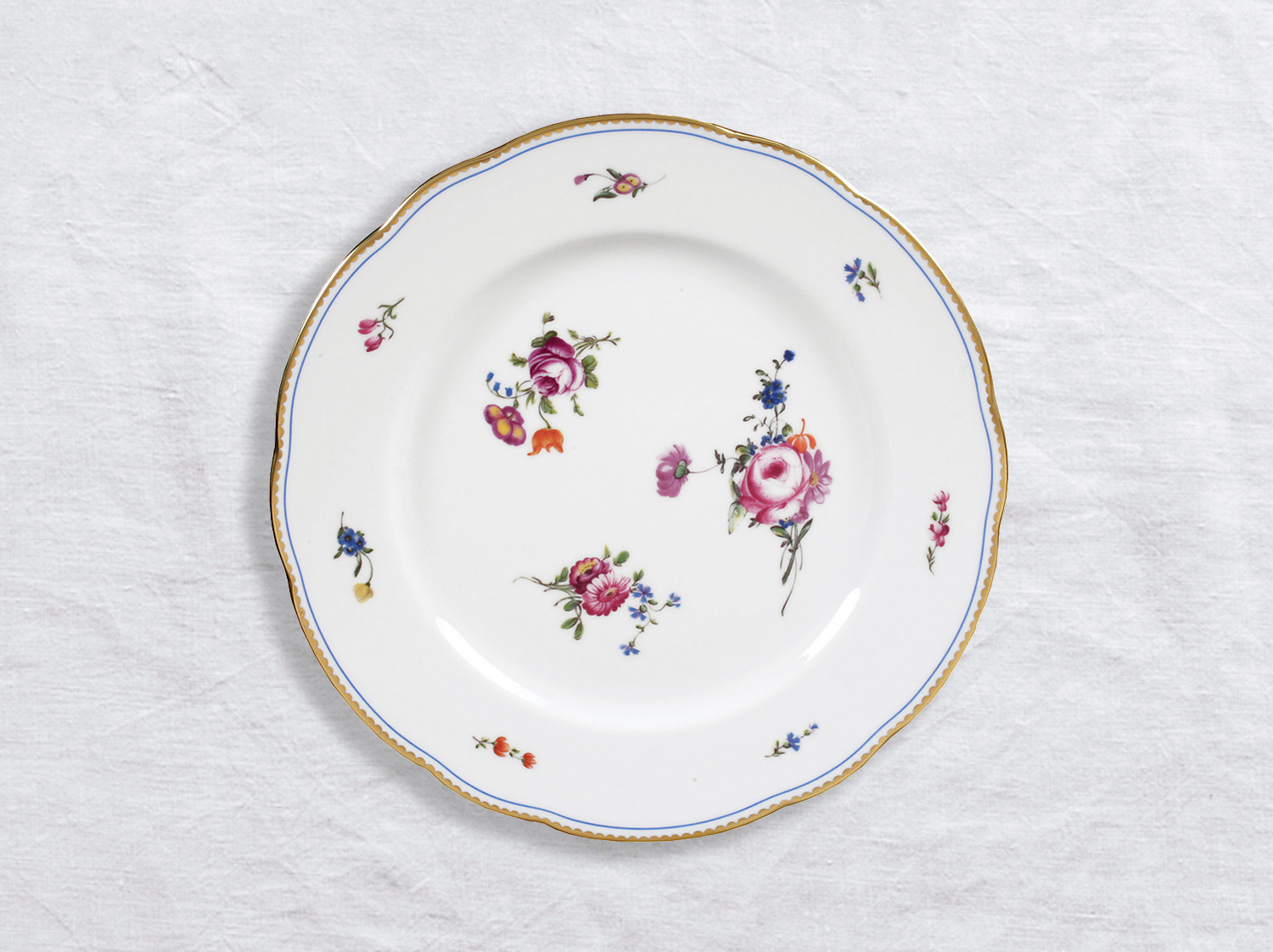 Assiette à dîner 26 cm en porcelaine de la collection A la reine Bernardaud