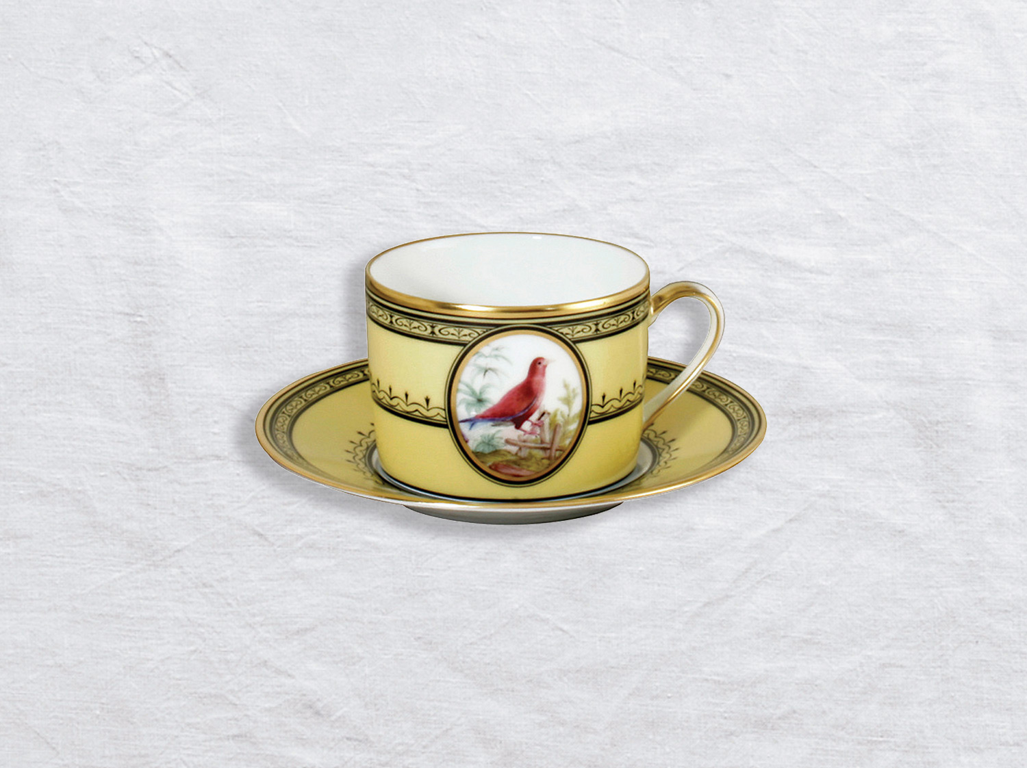 China Tea cup and saucer Le rolle de Madagascar 5 oz of the collection Le rolle de madagascar | Bernardaud