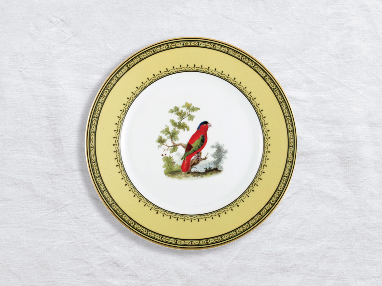Assiette à dessert Lory des Indes orientales 21 cm en porcelaine de la collection Lory des indes orientales Bernardaud