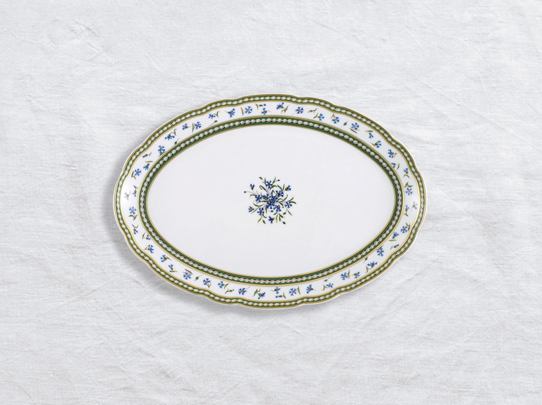 Plat ovale 33 cm en porcelaine de la collection Marie-antoinette Bernardaud