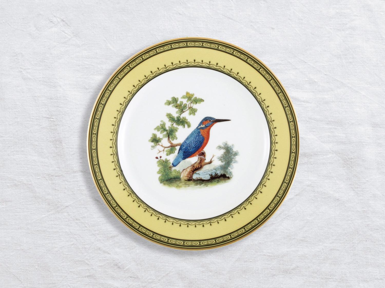 Assiette à dessert Martin pecheur 21 cm en porcelaine de la collection Martin pecheur Bernardaud