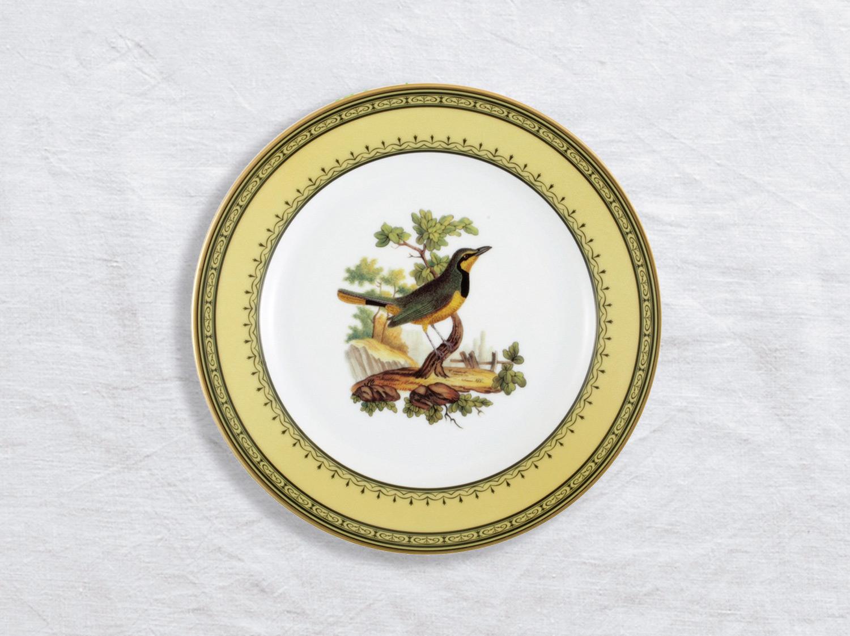 Assiette à dessert Merle collier Cap bonne espera. 21 cm en porcelaine de la collection Merle collier cap bonne espera Bernardaud