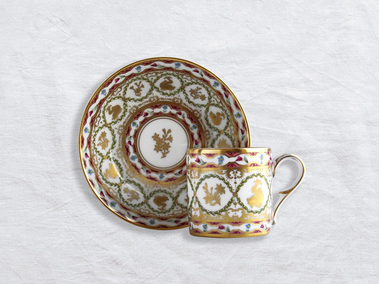Tasse et soucoupe litron en porcelaine de la collection Aux Dauphins Bernardaud