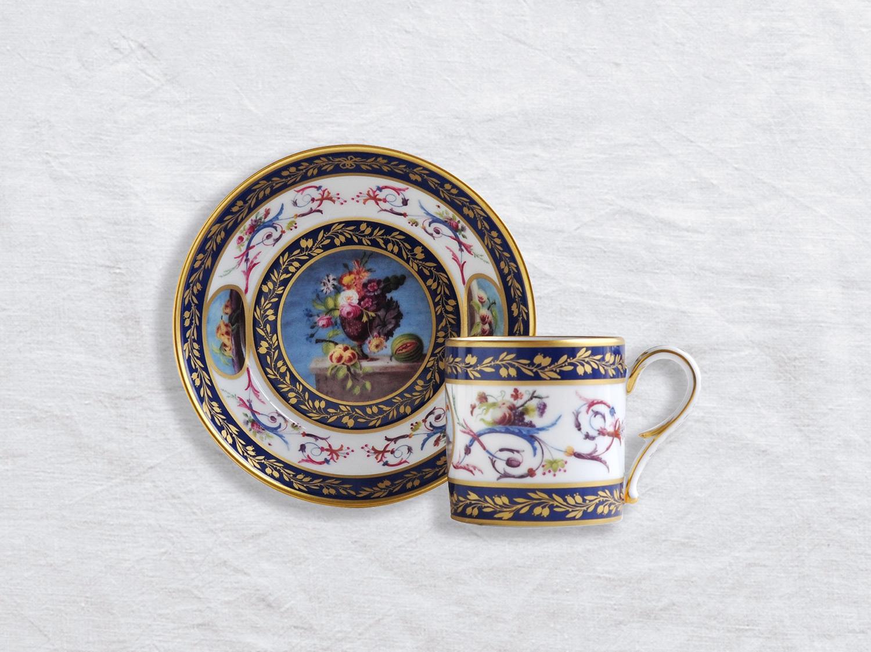 Tasse et soucoupe litron en porcelaine de la collection Nature morte aux pêches Bernardaud