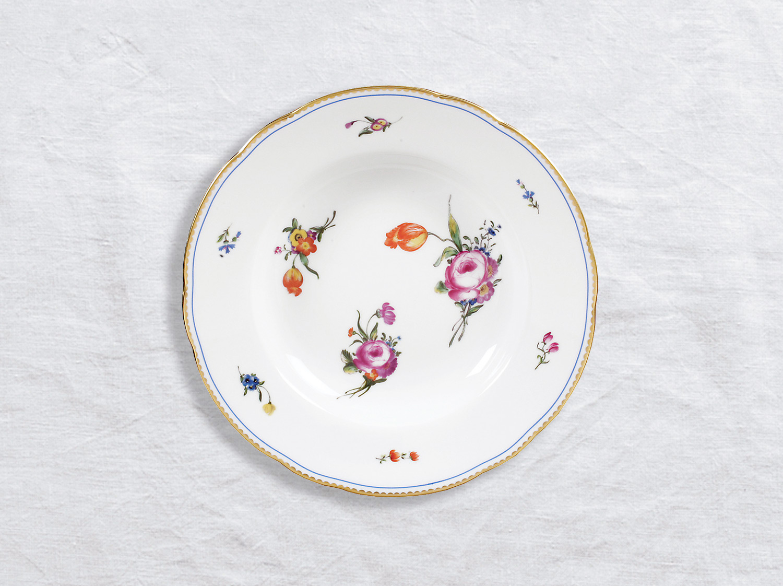 Assiette creuse à aile 22,5 cm en porcelaine de la collection A la reine Bernardaud