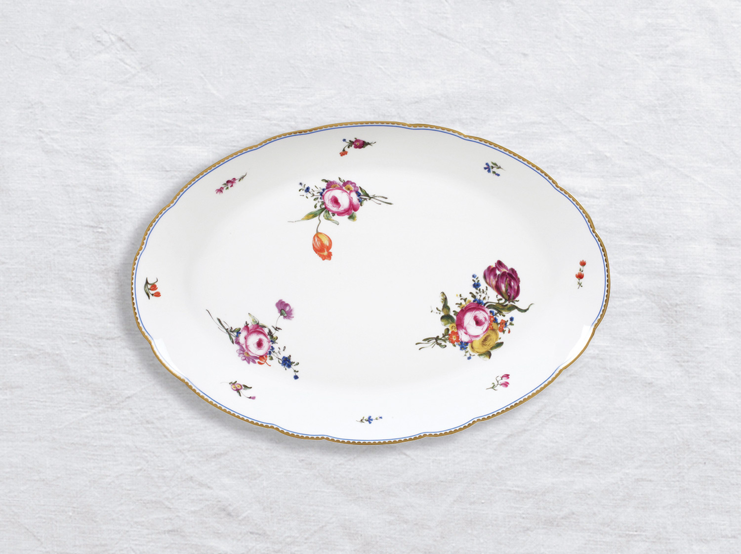 Plat ovale 38 cm en porcelaine de la collection A la reine Bernardaud