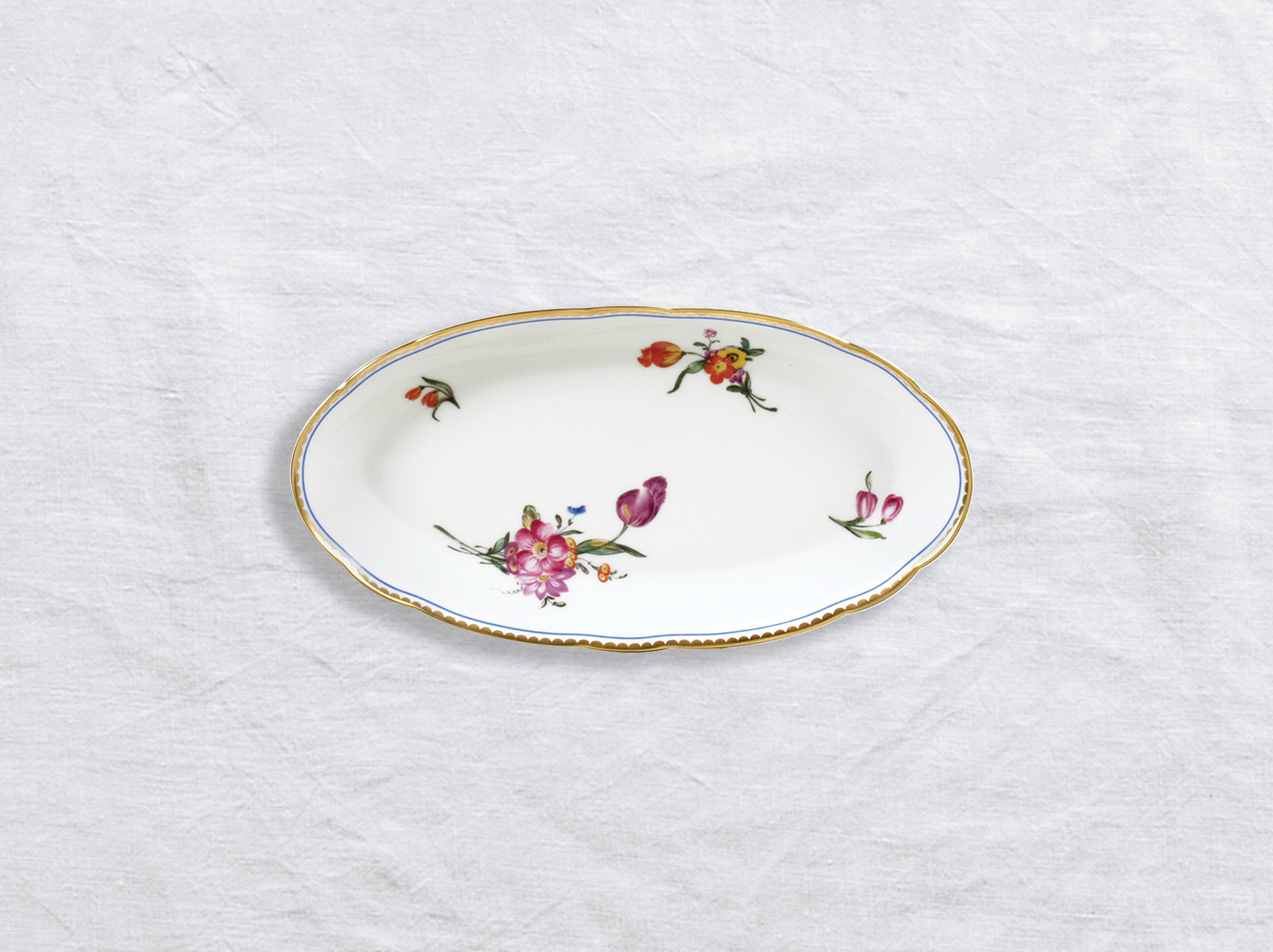 Ravier 21 x 15 cm en porcelaine de la collection A la reine Bernardaud