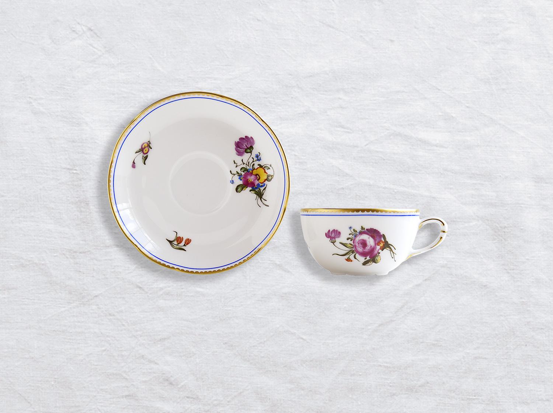 Tasse et soucoupe à thé en porcelaine de la collection A la reine Bernardaud