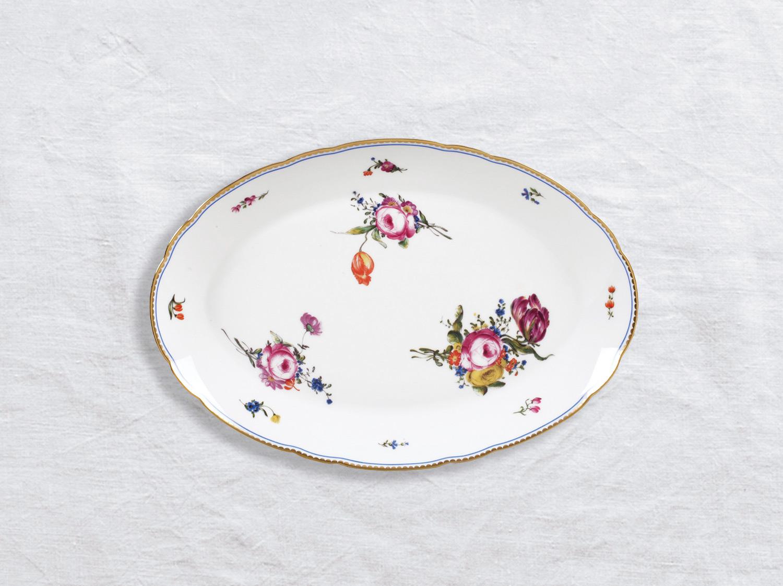Plat ovale 33 cm en porcelaine de la collection A la reine Bernardaud