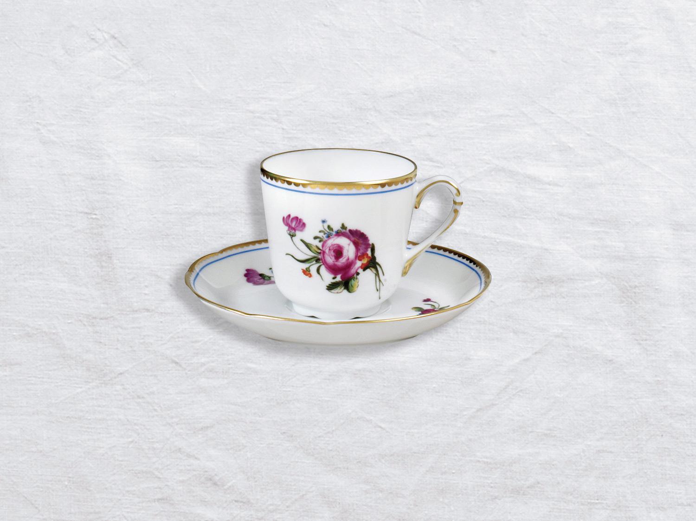 Tasse et soucoupe à café en porcelaine de la collection A la reine Bernardaud