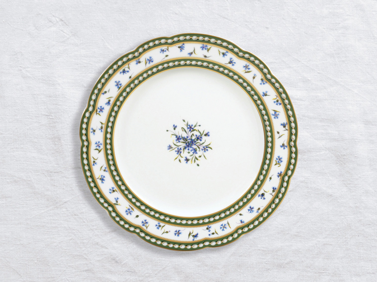 Assiette à dîner 26 cm en porcelaine de la collection Marie-antoinette Bernardaud