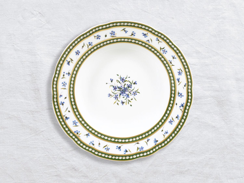 Assiette creuse à aile 22,5 cm en porcelaine de la collection Marie-antoinette Bernardaud
