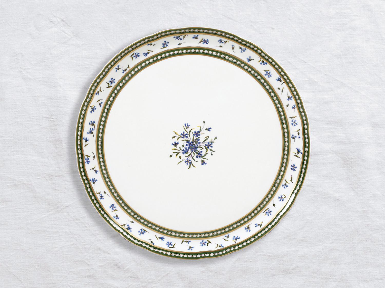 Plat à tarte 32 cm en porcelaine de la collection Marie-antoinette Bernardaud