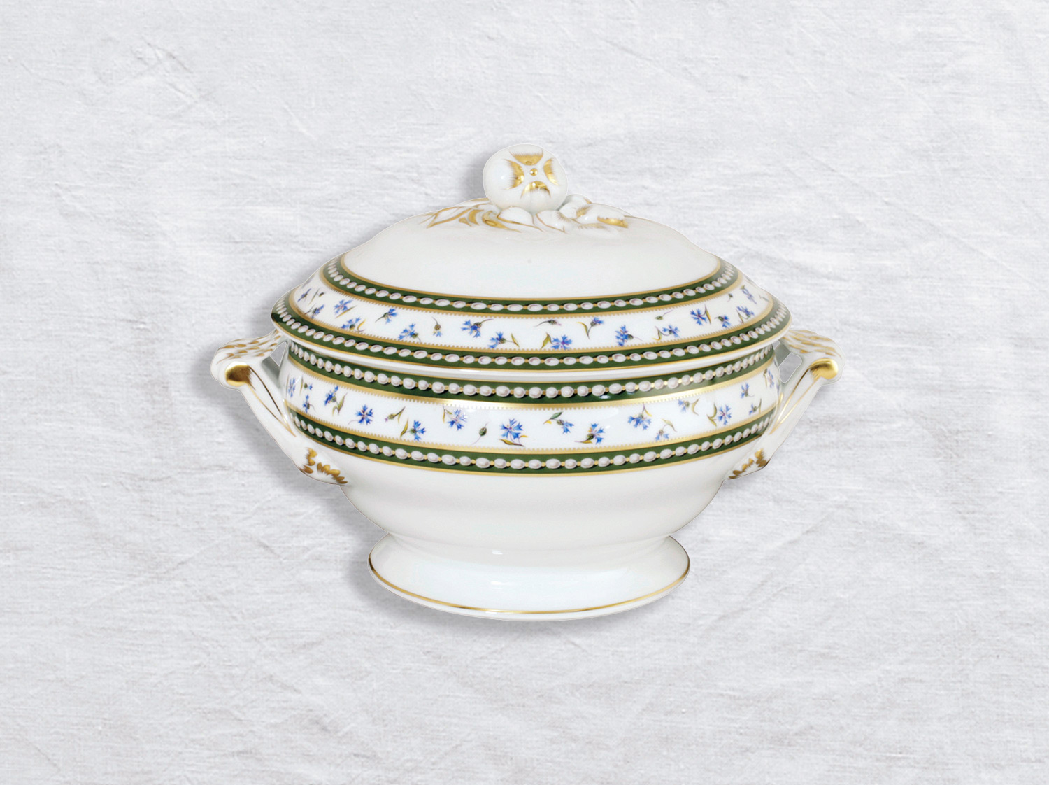 Pot à oilles (soupière) 2,2 L en porcelaine de la collection Marie-antoinette Bernardaud