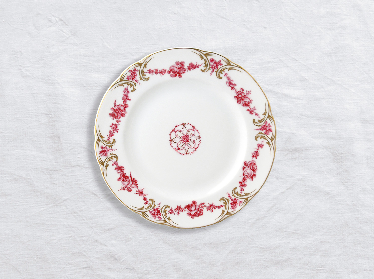 Assiette à pain 16 cm en porcelaine de la collection Louis xv Bernardaud