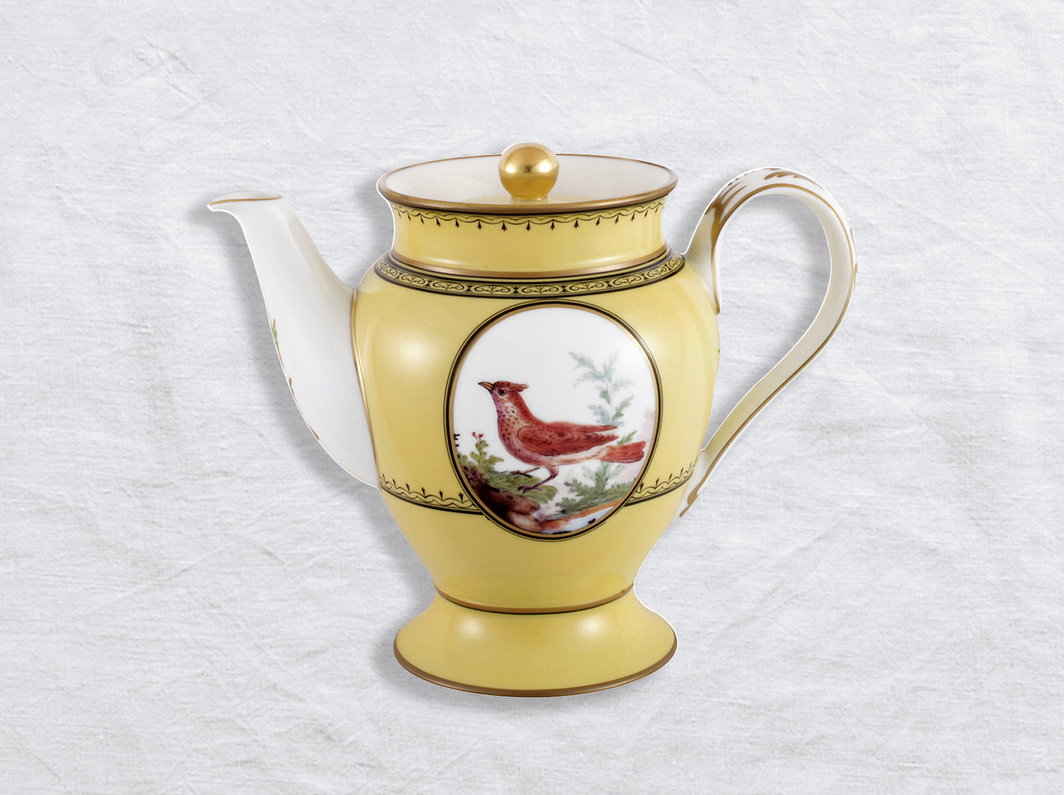 Cafetière 12 tasses 1 L en porcelaine de la collection Empire oiseaux de buffon collection Bernardaud