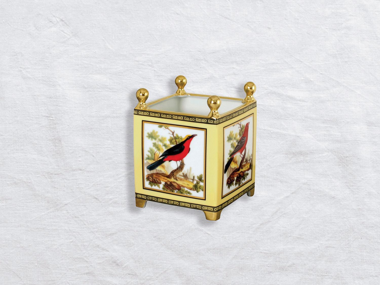 Caisse à fleurs en porcelaine de la collection Fantai oiseaux de buffon collection Bernardaud