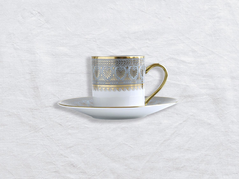 Tasse et soucoupe à café en porcelaine de la collection Elysee Bernardaud