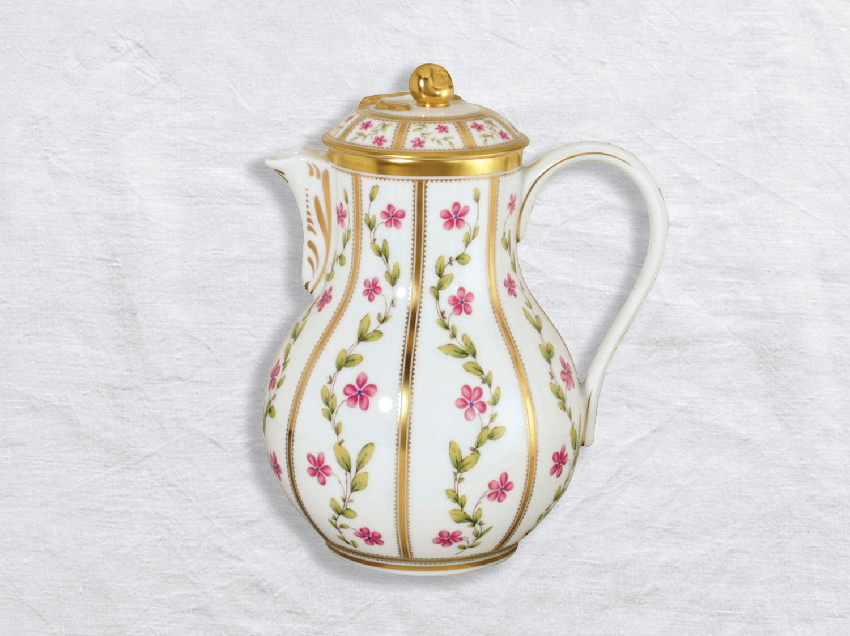 Verseuse haute 12 tasses 1,4 L en porcelaine de la collection Roseraie Bernardaud