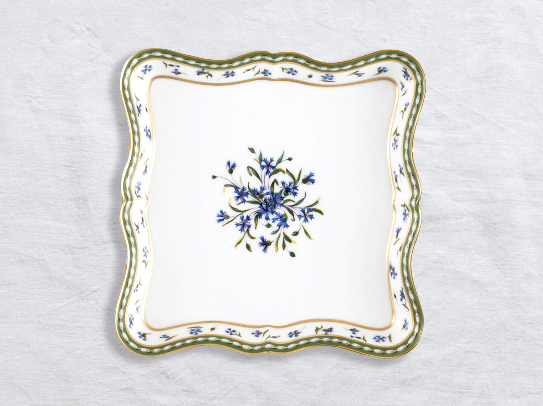 Plateau losange GM 20 x 20 cm en porcelaine de la collection Marie-antoinette Bernardaud