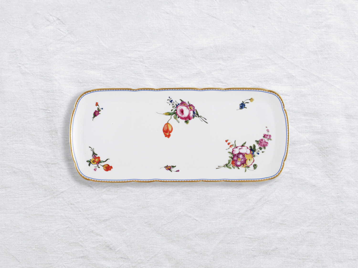 Plat à cake 38 cm en porcelaine de la collection A la reine Bernardaud