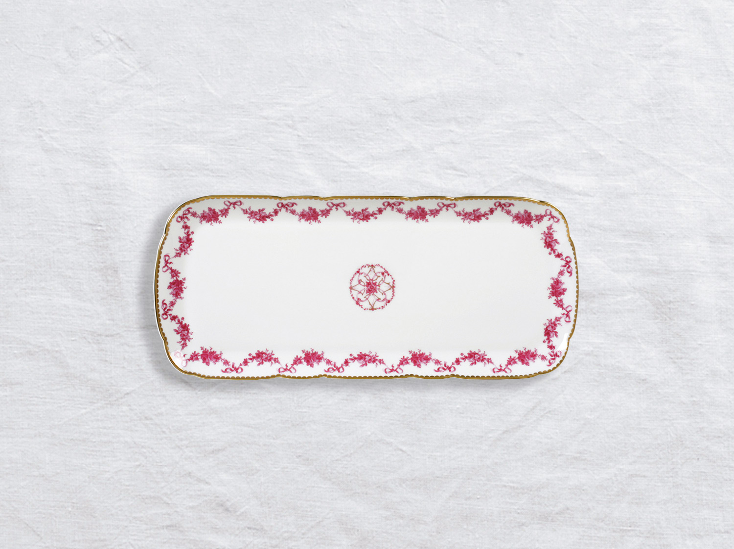"China Cake platter rectangular 16"" of the collection Louis xv 