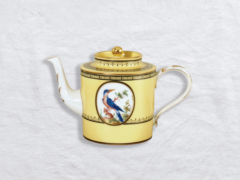 Théière 6 tasses en porcelaine de la collection Empire oiseaux de buffon collection Bernardaud