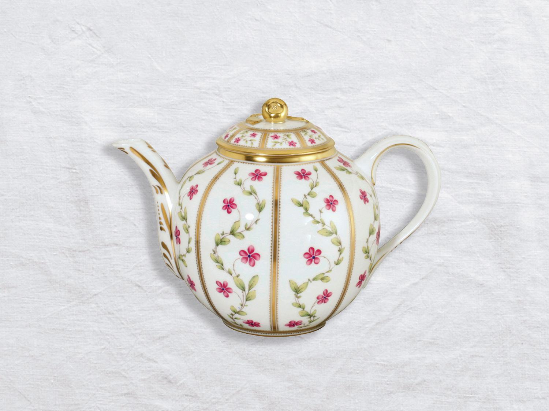 Verseuse basse 12 tasses 1,1 L en porcelaine de la collection Roseraie Bernardaud