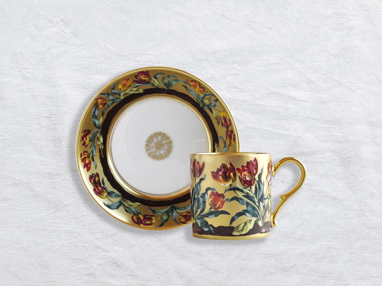 Tasse et soucoupe litron en porcelaine de la collection Aux tulipes Bernardaud
