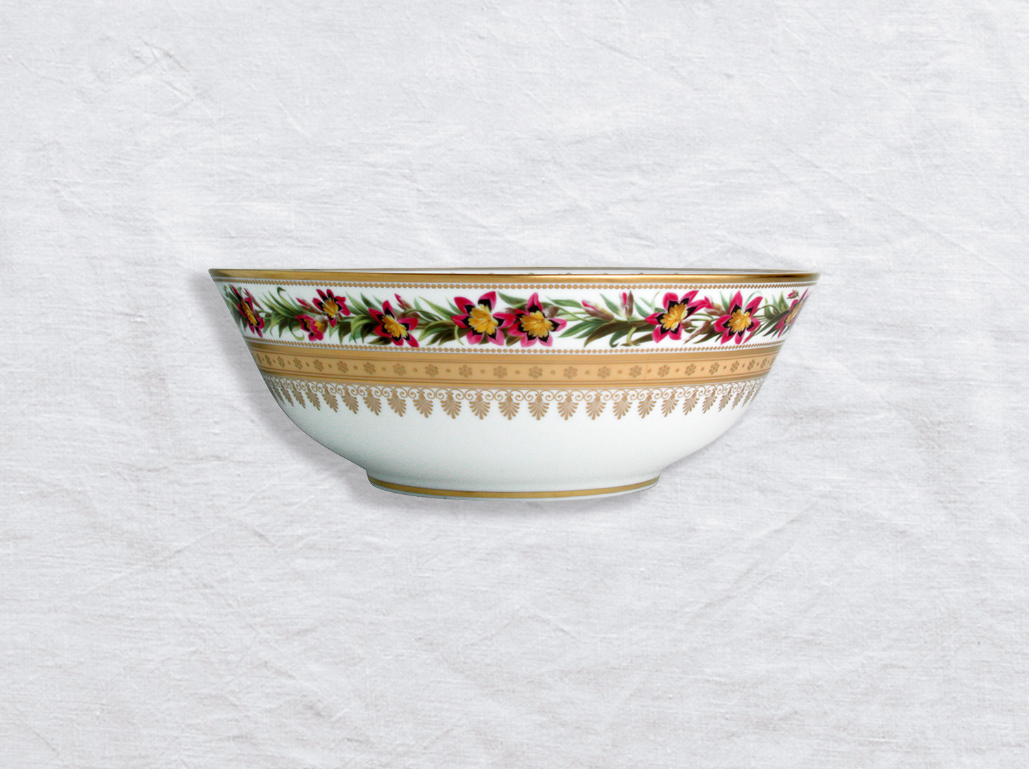 Saladier 25 cm 1,7 L en porcelaine de la collection Botanique Bernardaud