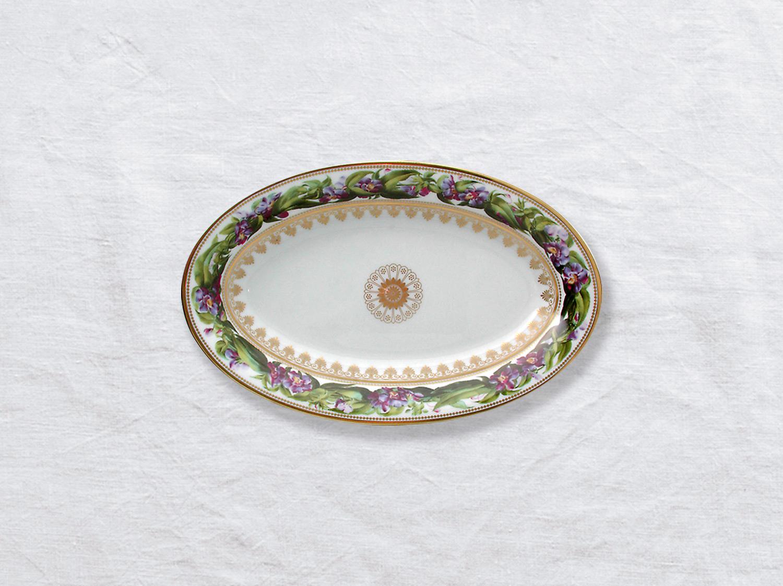 Ravier 23 x 12 cm en porcelaine de la collection Botanique Bernardaud