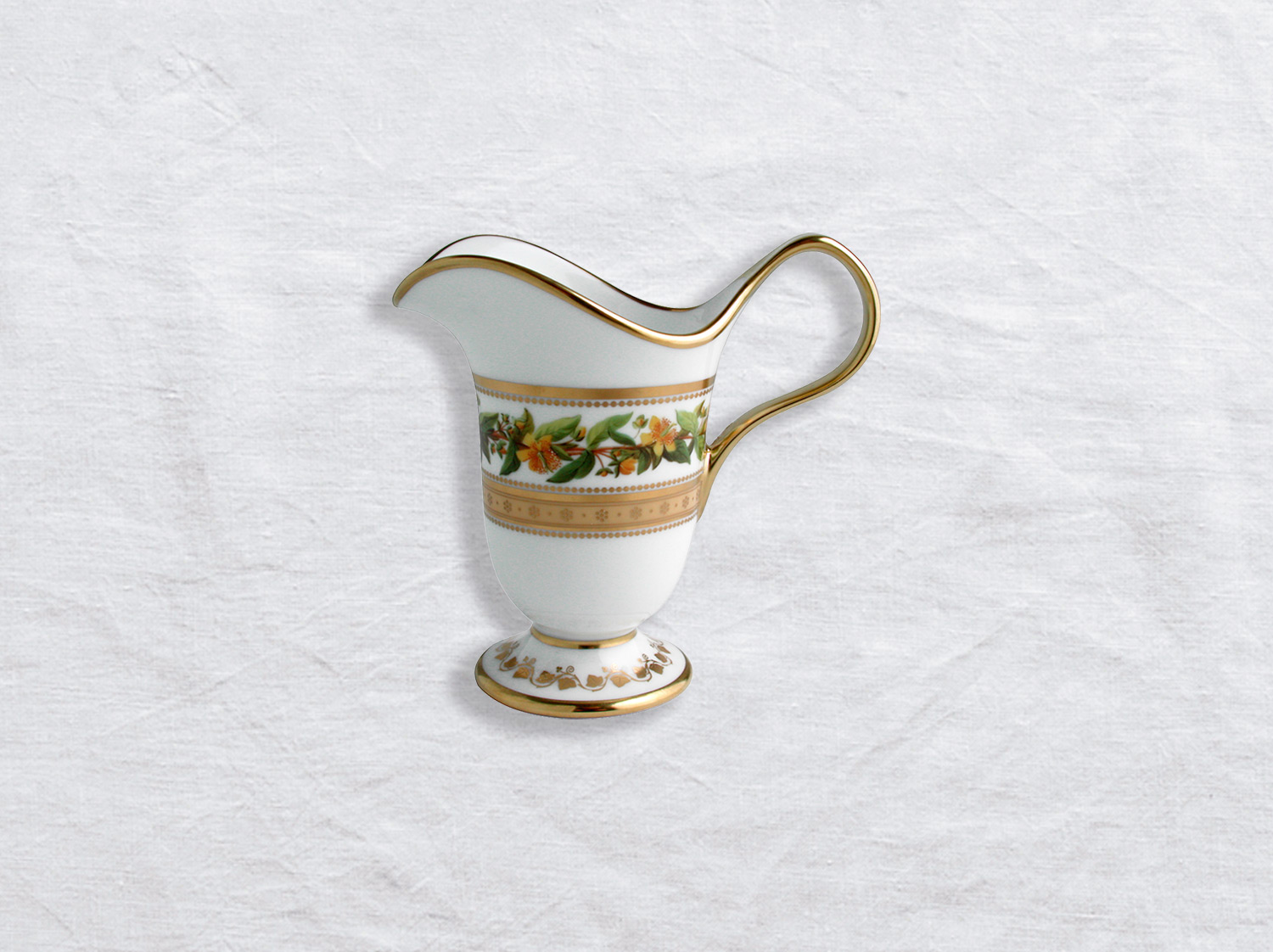 Crémier 6 tasses en porcelaine de la collection Botanique Bernardaud
