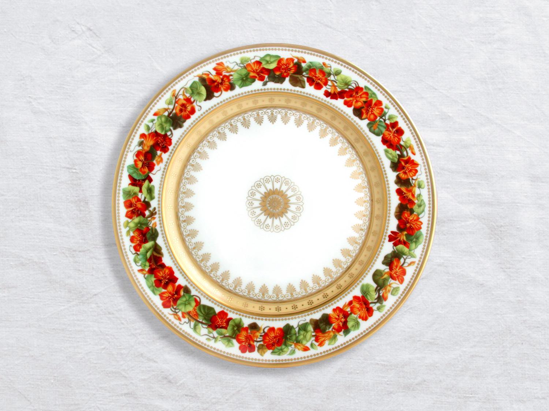Assiette à dîner Capucine 26 cm en porcelaine de la collection Botanique Bernardaud