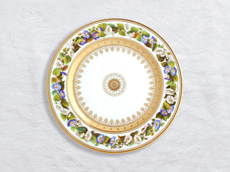 Assiette à dîner Ipomee pourpre 26 cm en porcelaine de la collection Botanique Bernardaud