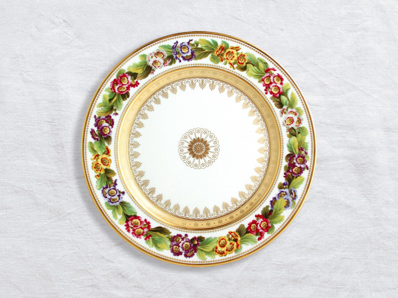 Assiette à dîner Primevere auricule 26 cm en porcelaine de la collection Botanique Bernardaud