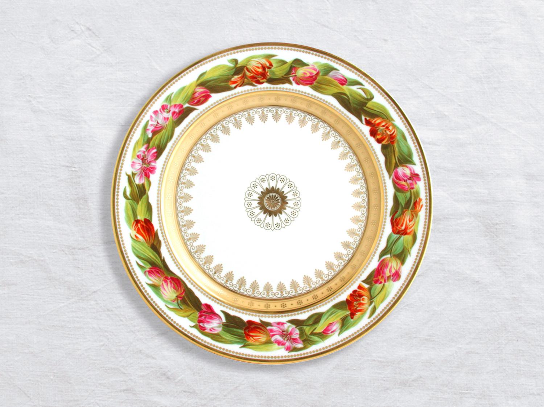 Assiette à dîner Tulipes 26 cm en porcelaine de la collection Botanique Bernardaud