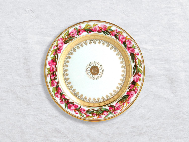 Assiette à dessert Pêcher à fleurs doubles 21 cm en porcelaine de la collection Botanique Bernardaud