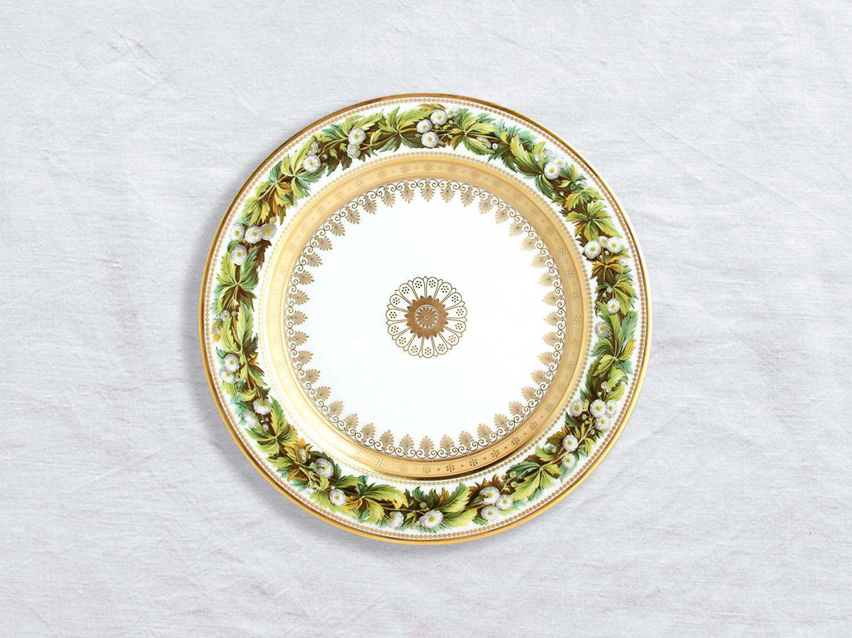 Assiette à dessert Renoncule feuilles aconit 21 cm en porcelaine de la collection Botanique Bernardaud