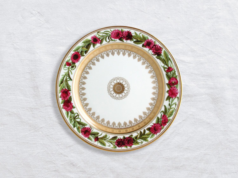 Assiette à dessert Scabieuse fleur-de-veuve 21 cm en porcelaine de la collection Botanique Bernardaud