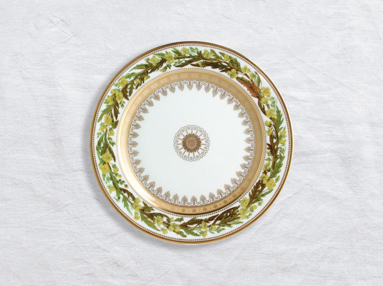 Assiette à dessert Sysimbrium irio 21 cm en porcelaine de la collection Botanique Bernardaud