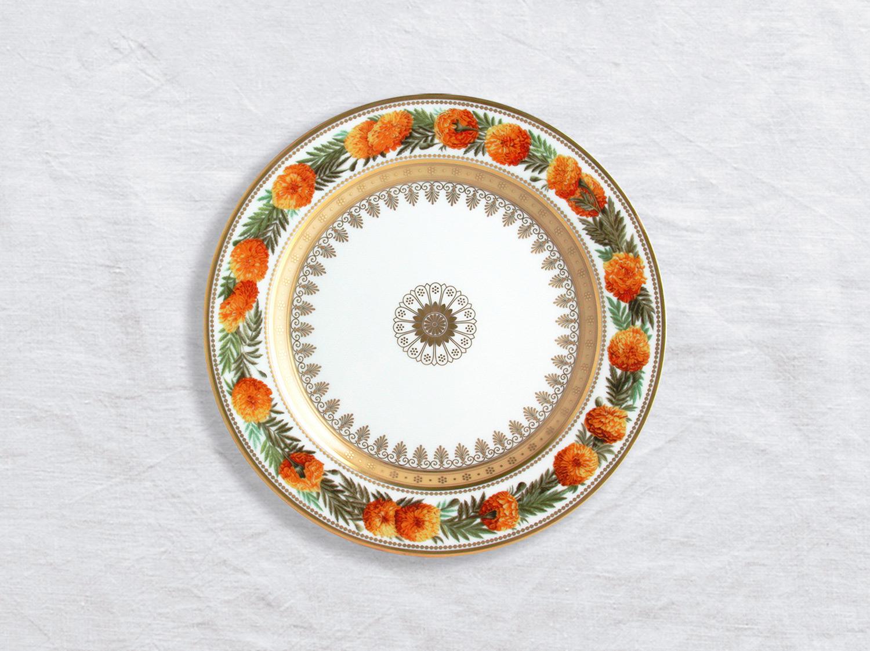 Assiette à dessert Tagetes eleve 21 cm en porcelaine de la collection Botanique Bernardaud