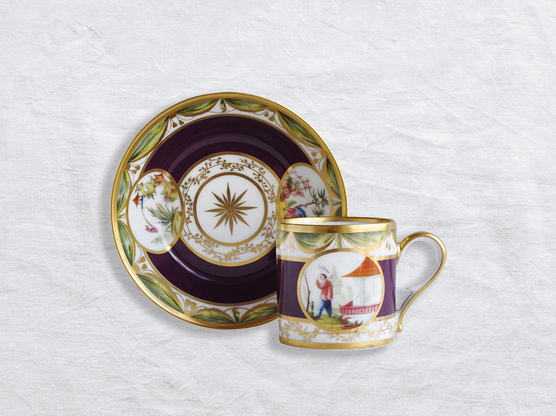 Tasse et soucoupe litron en porcelaine de la collection Aux chinois Bernardaud