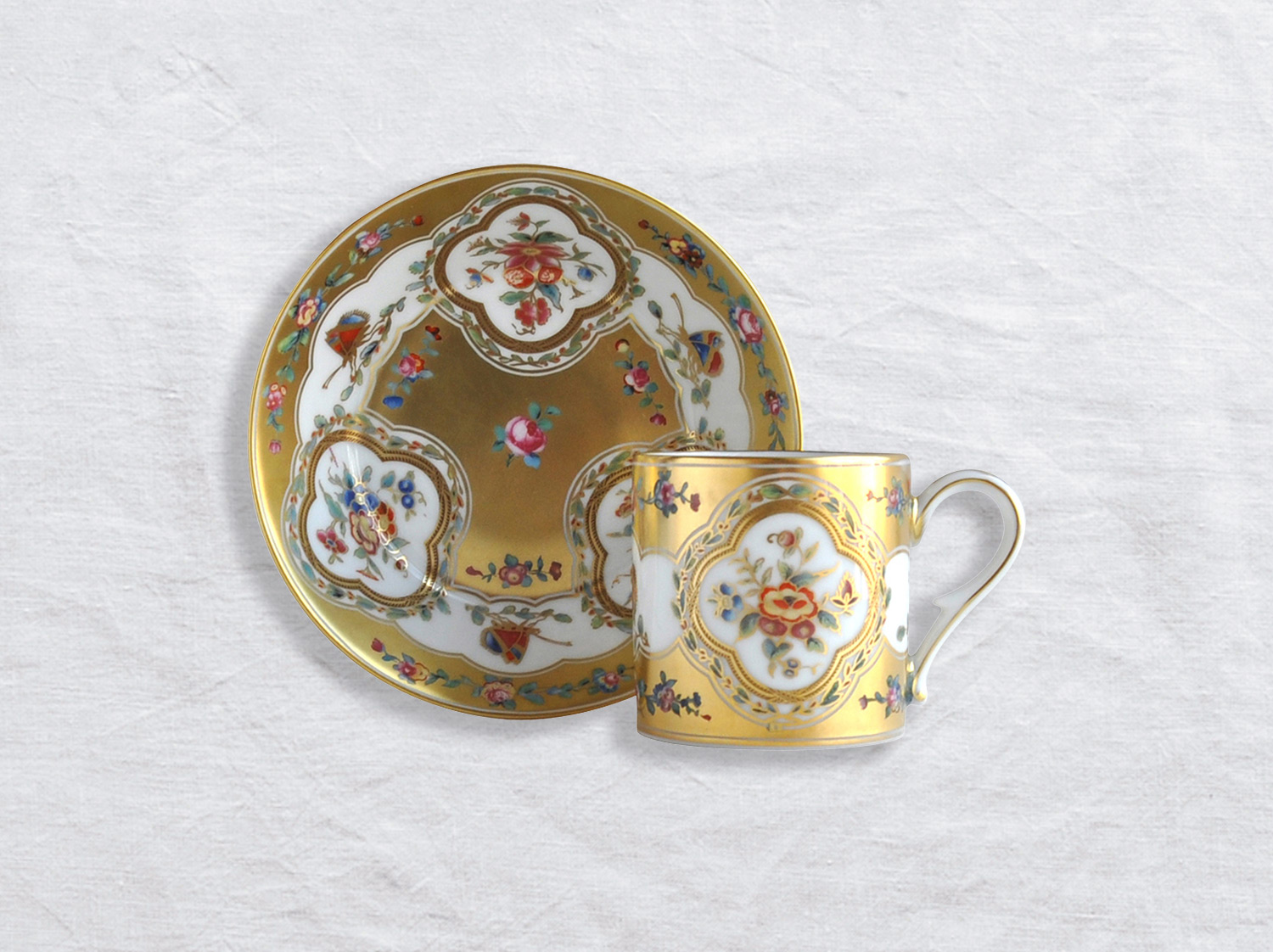 China Litron cup & saucer of the collection Aux papillons | Bernardaud