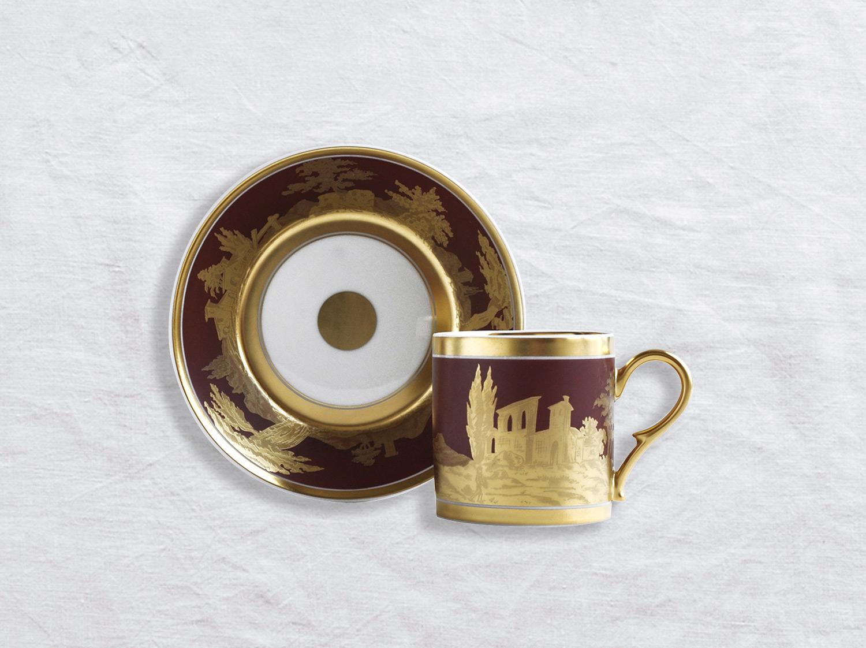 Tasse et soucoupe litron en porcelaine de la collection Paysage à l or Bernardaud